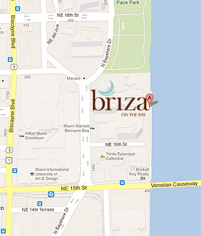 briza on the bay map